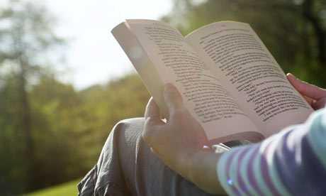 Read a book - Facebook Addiction